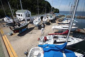 船艇の汚れない安心-安全な陸上保管